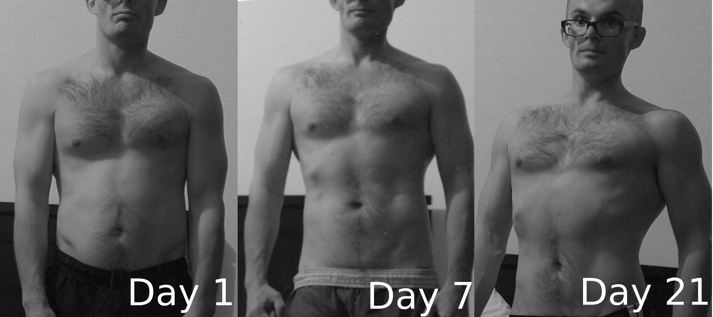 Heres What Happened In 3 Weeks Just By Changing I Ate Began Body Weight Calisthenics After The First Week